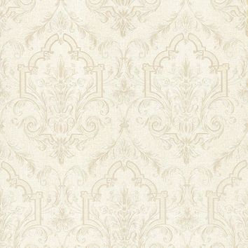 Brewster Wallpaper 987-56572 Consuela Platinum Damask