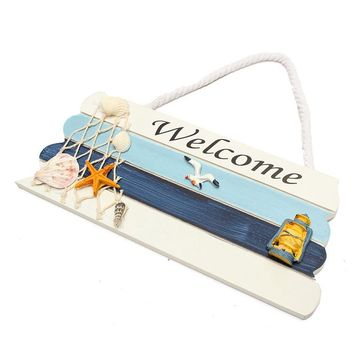 Welcome Wooden Sign for the Beach