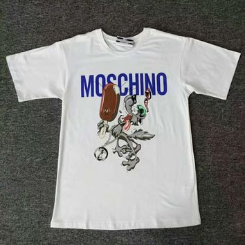 Moschino The Wolf Ice cream print short sleeve top H-spring-CLFSGCJDZ