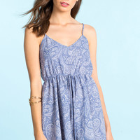 Paisley Chambray Romper