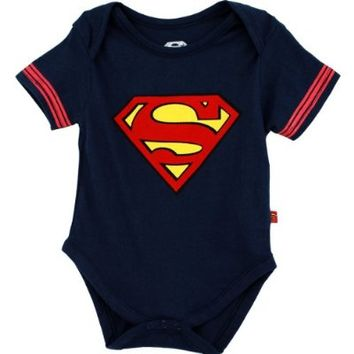 "DC Comics Superman ""S"" Navy Infant Bodysuit Creeper (0/3M)"