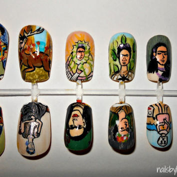 Frida Kahlo Nail Set