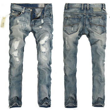 Destroyed Light Wash Skinny Jeans