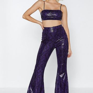 If It Snakes You Feel Good Crop Top