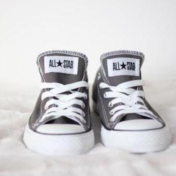 CREYUG7 Converse All Star Sneakers canvas shoes for Unisex sports shoes low-top gray