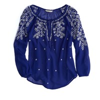 's Embroidered Boho Top