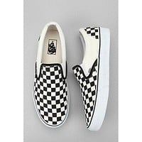 Vans Checkerboard Slip-On Sneaker Shoes Black White Plaid Women Men Shoes