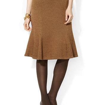 Lauren Ralph Lauren Cotton Blend Straight Skirt