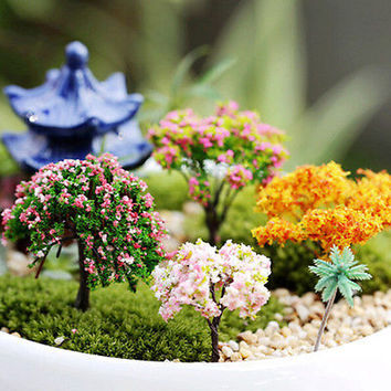 Miniature  Tree Plants Fairy Garden Accessories Dollhouse Ornament Decor HU