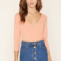 Surplice Crop Top | Forever 21 - 2000170219