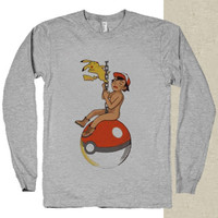 Pokemon parody miley cyrus t-shirt long sleeves happy feed