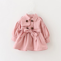 Baby Coats for Girls Trench Casual Children Clothing Spring Jackets Kids Solid Dust Coat Autumn Double Breasted Infant Outerwear