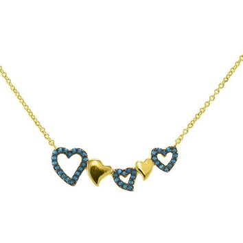 JustyTurquoise Love Bar Pendant Necklace