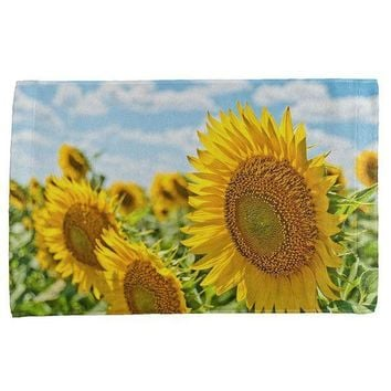 ESBGQ9 Sunflower Fields All Over Hand Towel