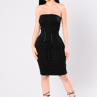 Come And Vibe Dress - Black