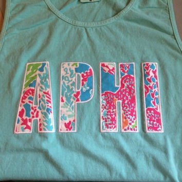 Alpha Phi Let's Cha Cha Comfort Colors Tank