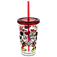 Mickey and Minnie Mouse Tumbler with Straw