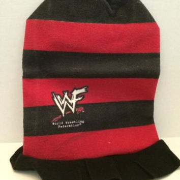 (TAS031379) - WWE WWF WCW Wrestling Red and Black Hat