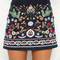 Hear Me Tonight Skirt Navy