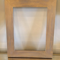 Picture frame 9x12 gold wax frame wood frame stained frame