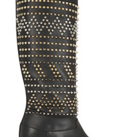 Christian Louboutin - Rom Chic 60 spiked leather knee boots