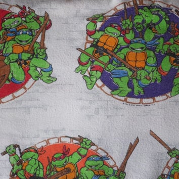 FREE SHIPPING - Teenage Mutant Ninja Turtles Twin Sheets/TMNT/Vintage Flat Sheet/ Vintage Fitted Sheets/Ninja Turtles/Children's Sheets