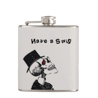 Have a Swig Inviting Skull Flask