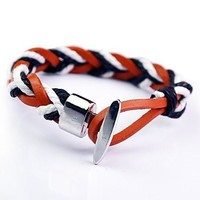 Awesome Shiny Great Deal New Arrival Hot Sale Gift Stylish Leather Men Accessory Cool Bracelet [6526735555]