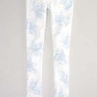 AEO 's Floral-print Jegging (White)