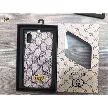 LV & GUCCI Fashion New More Letter Monogram Print Women Men Protective Cover Phone Case 3#