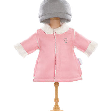 "Corolle 14"" Doll Coat & Hat Set - Pink"