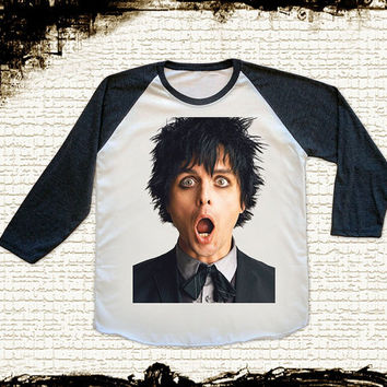 Size M -- GREEN DAY Shirts Billie Joe Armstrong Shirts Alternative Rock Baseball Tee Jersey Raglan Long Sleeve Unisex Shirts Women Shirts