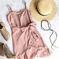 all the things we love wrap dress - mauve