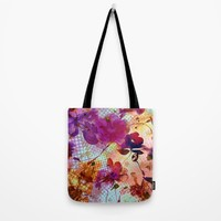 flowers and light Tote Bag by clemm