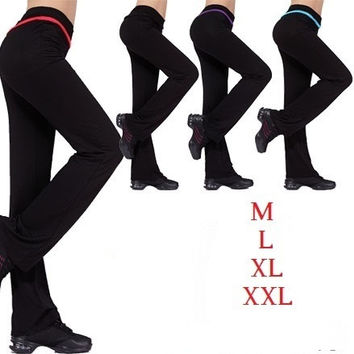 women's modal plus size dance long sports trousers 4 colors fitness confortable yoga pants = 1932041348