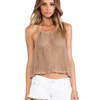 Blue Life Sahara Cropped Halter in Brown