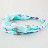 Full Tilt Pineapple Headband Mint One Size For Women 25147952301