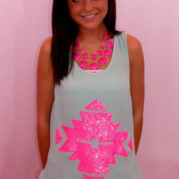 As If Aztec Tank - Haute Pink Boutique