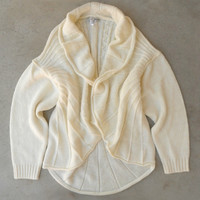 Ivory Snow Cap Cardigan [4537] - $43.00 : Vintage Inspired Clothing & Affordable Dresses, deloom | Modern. Vintage. Crafted.