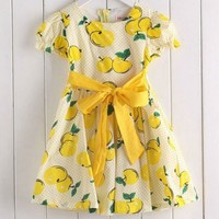 Juicy Apples Yellow Dress
