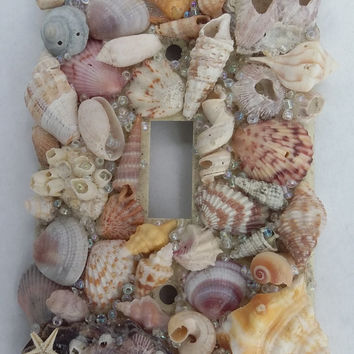 Seashell Light Switch Cover - Coastal Living Decor, Nautical Light Switch Cover