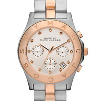 Marc By Marc Jacobs Ladies' Rose Gold and Silver Chronograph Watch