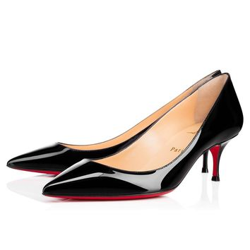 Christian Louboutin Cl Pigalle Follies Black Patent Leather 55mm Stiletto Heel 16s