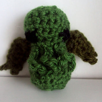 Crocheted Cthulhu Inspired Doll - Baby Cthulhu, Mini, Plush