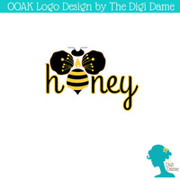 OOAK Premade Logo Design: Honey Bee in Black and Yellow