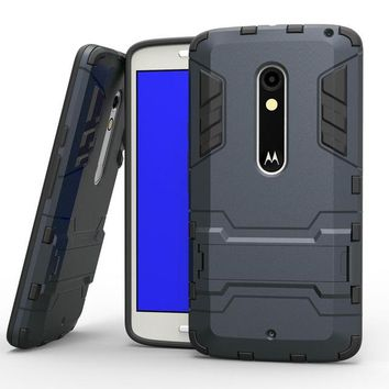 For Motorola X Play Case XT1562 XT1563 Slim Phone Case Robot Armor Hybrid Rubber Hard Cover For Moto X3 Lux / Droid Maxx 2