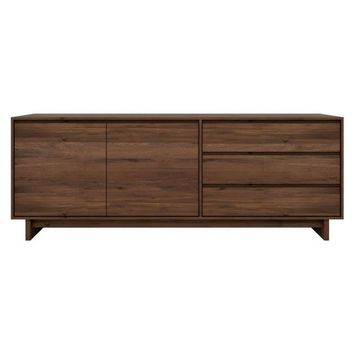 Ethnicraft Walnut Wave Sideboard 2 Doors 3 Drawers