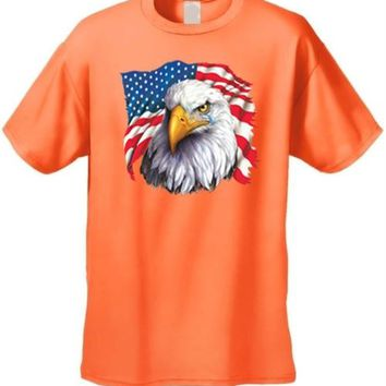 Men's USA Flag Bald Eagle Pride w/ Tear Short