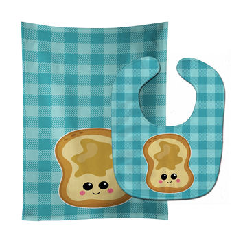 Peanut Butter Toast Baby Bib & Burp Cloth BB6843STBU