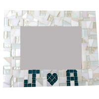 Anniversary or Engagement Gift // Personalized Frame // Mosaic Picture Frame